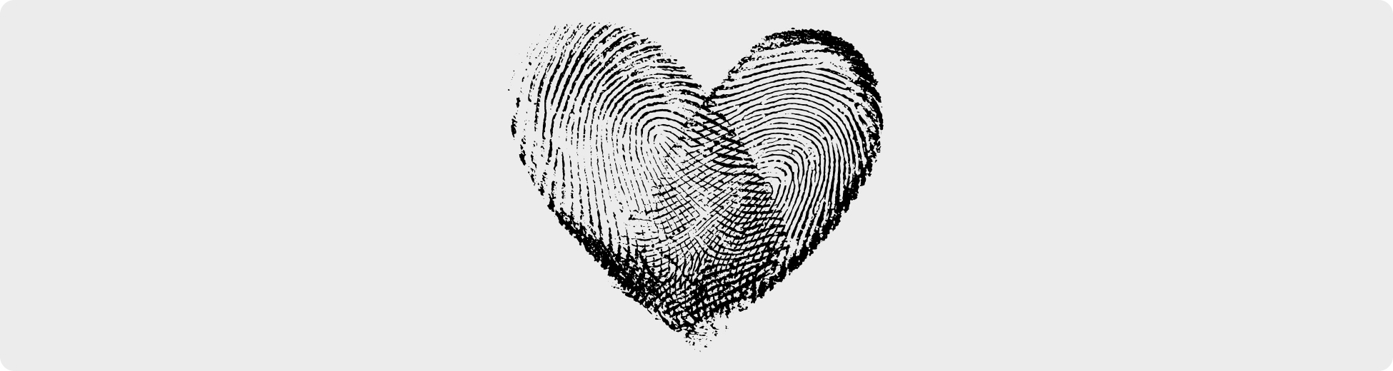 Heart Shaped Fingerprint Design